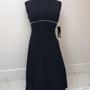 Elegant black halter size 2 Nine West dress prom
